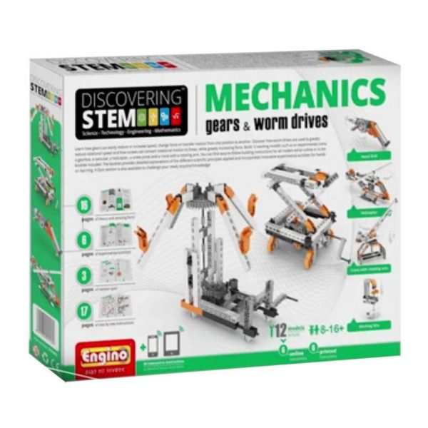 Engino STEM Mechanics -Tand- en wormwielen